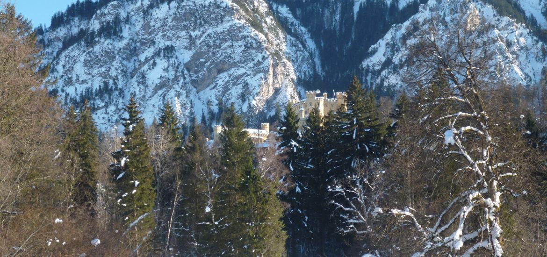 Castelo de Hohenschwangau no inverno