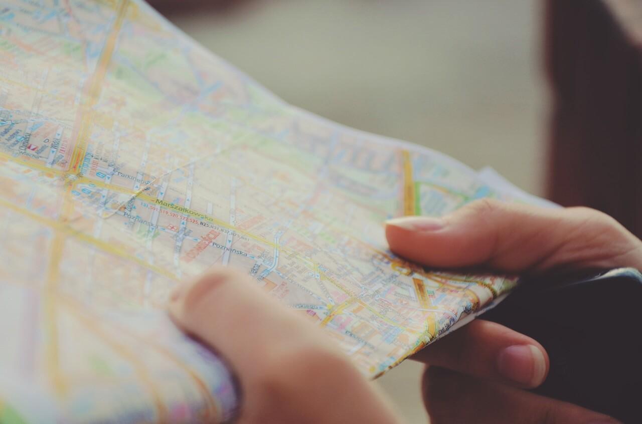 Mapa na mão