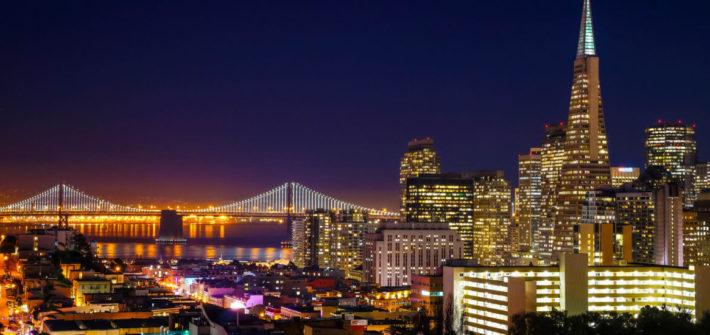 Cidade americana a noite